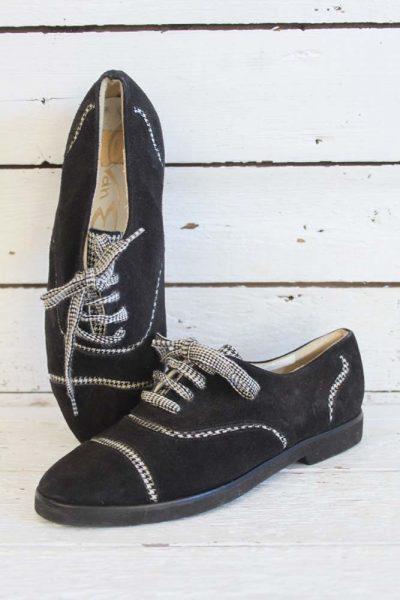 pied de poule schoenen