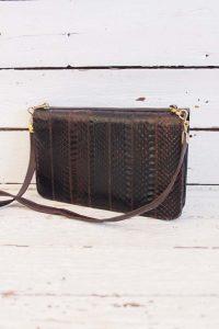 vintage snakeskin bag