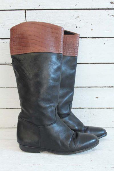 cremekleurige vintage laarzen. sugarsugar.nl | Laarzen