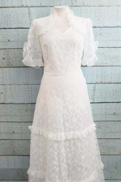 Waanzinnig mooie vintage trouwjurk!
