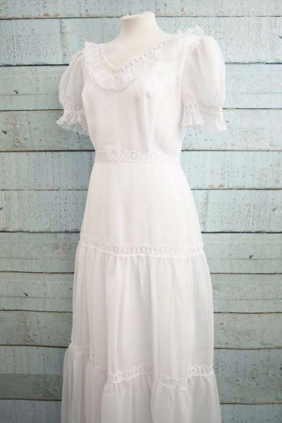 Romantische vintage trouwjurk.