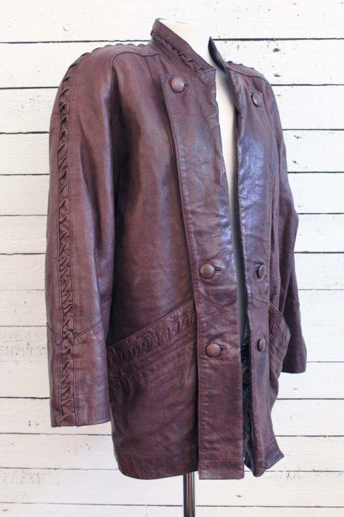 vintage leren jas