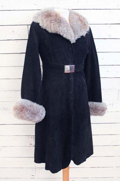 suede vintage jas