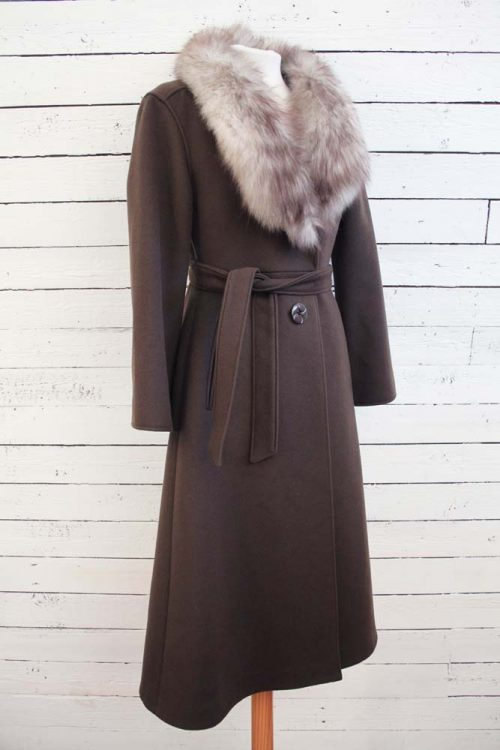 vintage wollen mantel