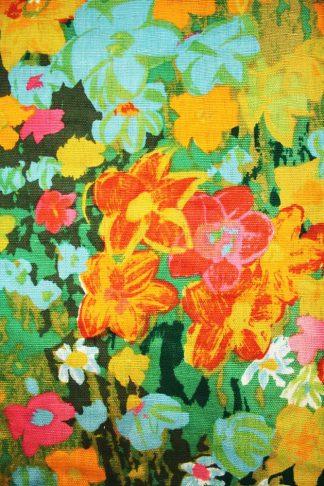 vintage bloemen gordijn